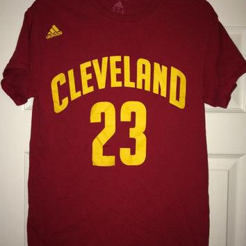 Sale!! Vintage Adidas Cleveland Cavaliers Basketball Shirt NBA Jersey #23 LeBron James