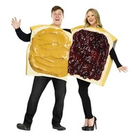 Peanut Butter & Jelly Couple Costume - Adult (White)