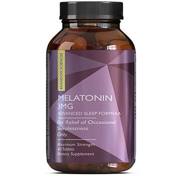 Pure Melatonin Supplement 3mg Sleeping Aid Pills for Women and men – Advanced Day Time Energy MG...