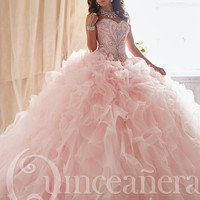 Tiffany Quinceañera Collection 26818 Beaded Pattern Ball Gown