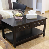 Furnistar Double Drawer Tea Coffee end Table for living room Reception