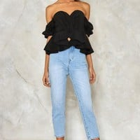 Sweetheart Beat Ruffle Top