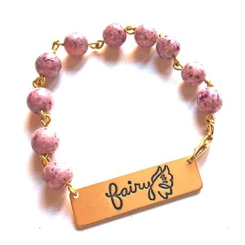 Fairy Quote Bracelet // Inspirational Bracelet // Perfect Gift for Girl