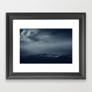 Full of snow Framed Art Print by Tomas Hudolin