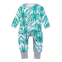 Newborn Baby Boy Clothes Infant Romper Long Sleeve Flower Print Baby Girl Rompers Jumpsuit Pajamas Baby Clothing Girl SR0870