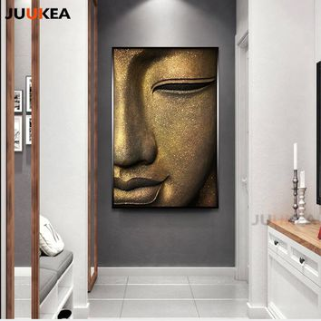 Buddha Canvas Painting Wall Art Modern Large Size Style Painting Prints and Posters Wall Pictures for Living Room Home Decor