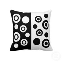 Black and White Pillow from Zazzle.com
