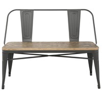 Oregon Industrial Bench Grey, Brown