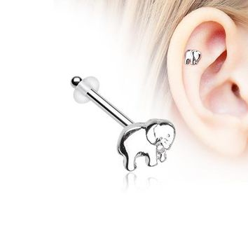 Adorable Baby Elephant Piercing Stud with O-Rings