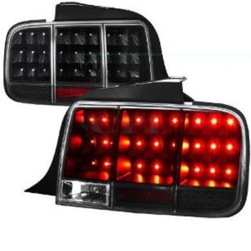Ford Mustang Sequential Led Taillights - Black Performance Conversion Kit