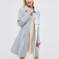 ASOS Skater Coat with Panelled Detail
