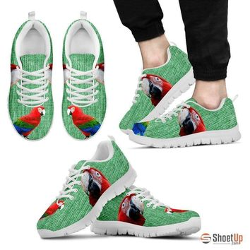 Fashion Online Red And Green Macaw Parrot Running Shoes For Men-free Shipping Limited Edition