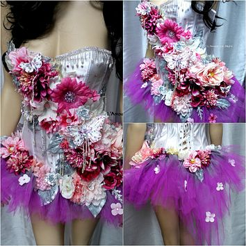 Berry Pretty in Pink Fairy Corset and High Low Tutu Costume