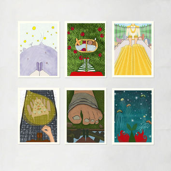 SALE - Fairy Tales - Set of 6 Prints.