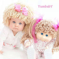 Cabbage Patch Hat, Beanie Wig, Baby costume, costumes for kids, cabbage patch inspired hats, baby girl, baby hats
