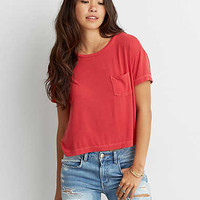 AEO Soft & Sexy Sky High T-Shirt , Red