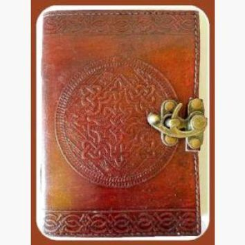 Celtic Knot Leather Latched  Journal