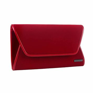 Velvet Roll Clutch Bag