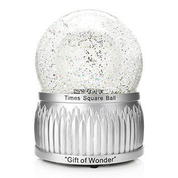 "Waterford Holiday Heirlooms 2016 Times Square Limited Edition 8"" Snow Globe  Changes Colors Red Green Blue"