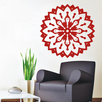 Floral Wall Decals Sun Indian Pattern Mandala Stickers Gym Dorm Interior Design Vinyl Decal Sticker Home Art Mural Living Room Decor KG830