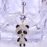 Panda Belly Button Ring