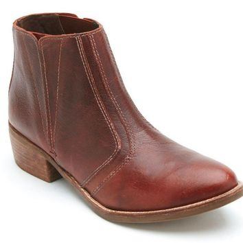 Matisse Fury Brown Leather Ankle Booties