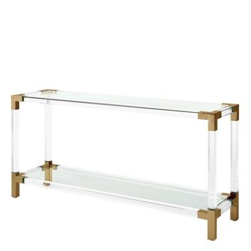 Clear Glass Console Table | Eichholtz Royalton