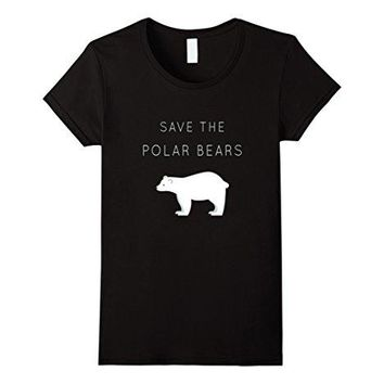 Save The Polar Bears Shirt - Animal Rights Activist T-shirt Printed Funny T Shirt Women Kawaii Punk Women Tops Tee Printed Funny