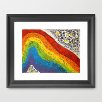 LOVE WINS Framed Art Print by Jennifer Pennacchio