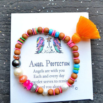 Be present! Be HAPPY. Perfect Gift, Angel Protection ,Carnelian, Amethyst, Labradorite, Guardian Angel, Girlfriend, wife, gift, bday, Tarot