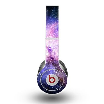 The Vibrant Purple and Blue Nebula Skin for the Beats by Dre Original Solo-Solo HD Headphones
