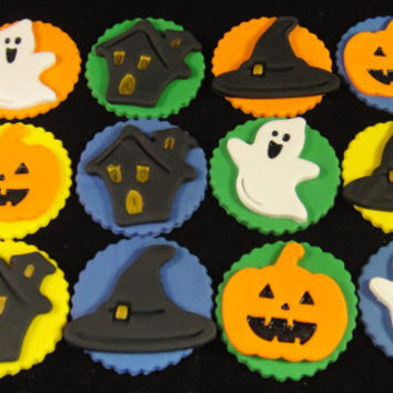 Halloween themed Edible Cupcake toppers