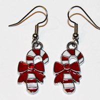 Candy Cane Christmas Earrings