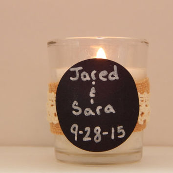 Rustic Wedding Favor - Rustic Wedding Decor - Party Favor - Rustic Candles