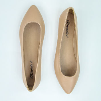 Flirty Flats in Nude
