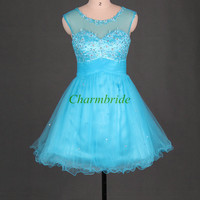 cute tulle bridesmaid dresses with sequins and crystals short simple bridesmaid gowns hot cheap dress for wedding party