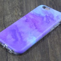 Abstract Watercolor Purple Tough Protective iPhone XS Max Case Galaxy S8 plus S7 Edge SE Snap Case 3D 206