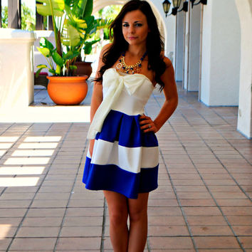 CALLING ALL ROYALS BOW DRESS
