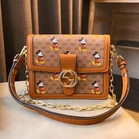 GUCCI x DISNEY vintage graffiti print Bacchus bag chain bag shoulder bag crossbody bag