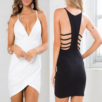 Womens Hollow Out Dress Party Dress