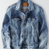 AE 360 Extreme Flex Denim Jacket, Medium Wash