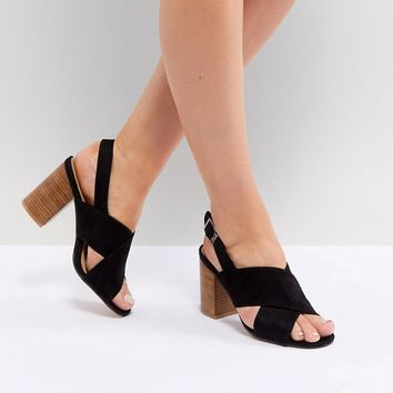 Park Lane Wide Fit Block Heeled Sandals at asos.com