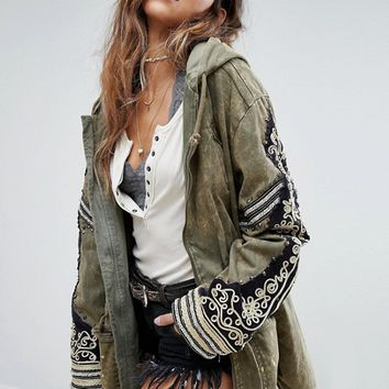 Free People Embellished Parka Jacket at asos.com