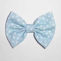 Blue W/ White Polka Dots from OHMYBOWS