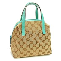 Gucci Handbag bag Blue Woman Authentic Used T3628