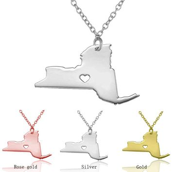 State of New York Necklace