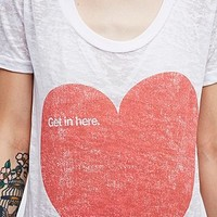 Palmercash Get In Here Tee in White - Urban Outfitters