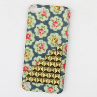 Bronze Stud And wave Little Rose Hard Case Cover for Apple Ipod Touch 5, iPod Touch 5th,iTouch 5,iPod Touch 5