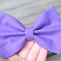 Purple Hair Bow For Girls Purple Bow: Cute Vintage Preppy Hair Bow Alligator Clip