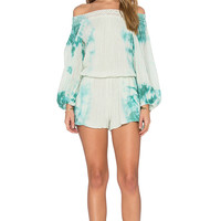 Jen's Pirate Booty Sunkissed Romper in Aloe & Teal HED | REVOLVE